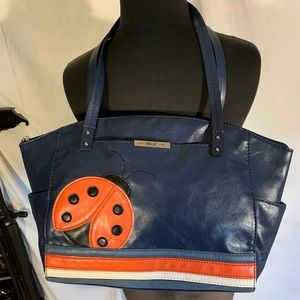 Relic 9x12 faux leather ladybug bag